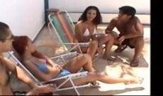 Trepada com duas Brasileiras putas