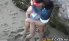 Casal flagrado fodendo em Tambaba PB