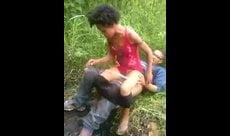 Flagra da RIP dando ao namorado no mato
